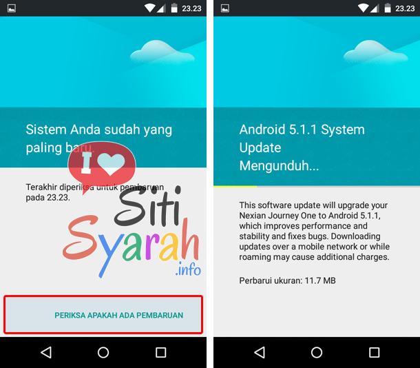 upgrade android ke versi paling baru tanpa komputer