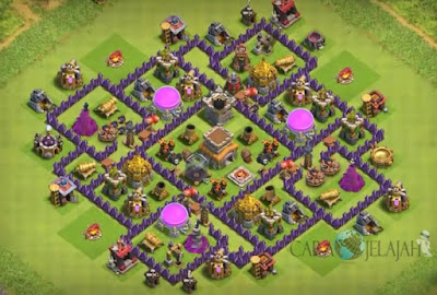 Base Hybrid TH 8 Clash Of Clans Terbaru Tipe 24