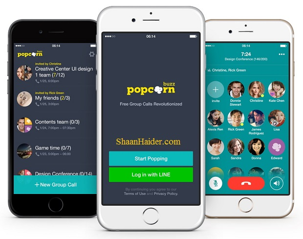 LINE launches Popcorn Buzz, a Free Group Call App Supporting upto 200 Users Simultaneously