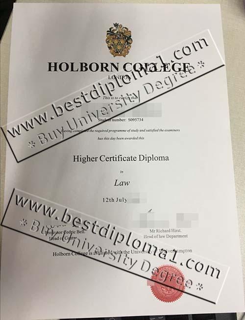 Holborn College London fake diploma