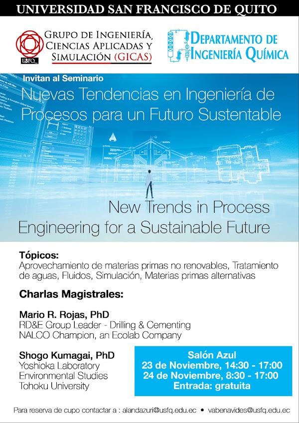 Nuevas Tendencias en Ingeniería de Procesos para un Futuro Sustentable