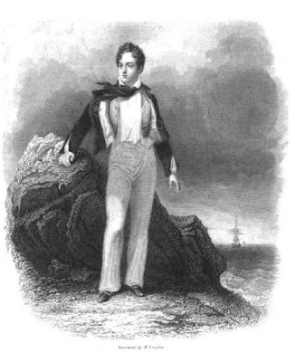 Lord Byron by Stanfield  from Life, Letters and Journals of Lord Byron (1839)