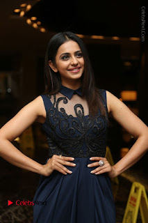 Actress Rakul Preet Singh Stills in Beautiful Blue Long Dress at Dhruva Salute to Audience Event  0026.JPG