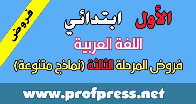 جميع فروض اللغة العربية المستوى الأول المرحلة الثالثة نماذج متنوعة