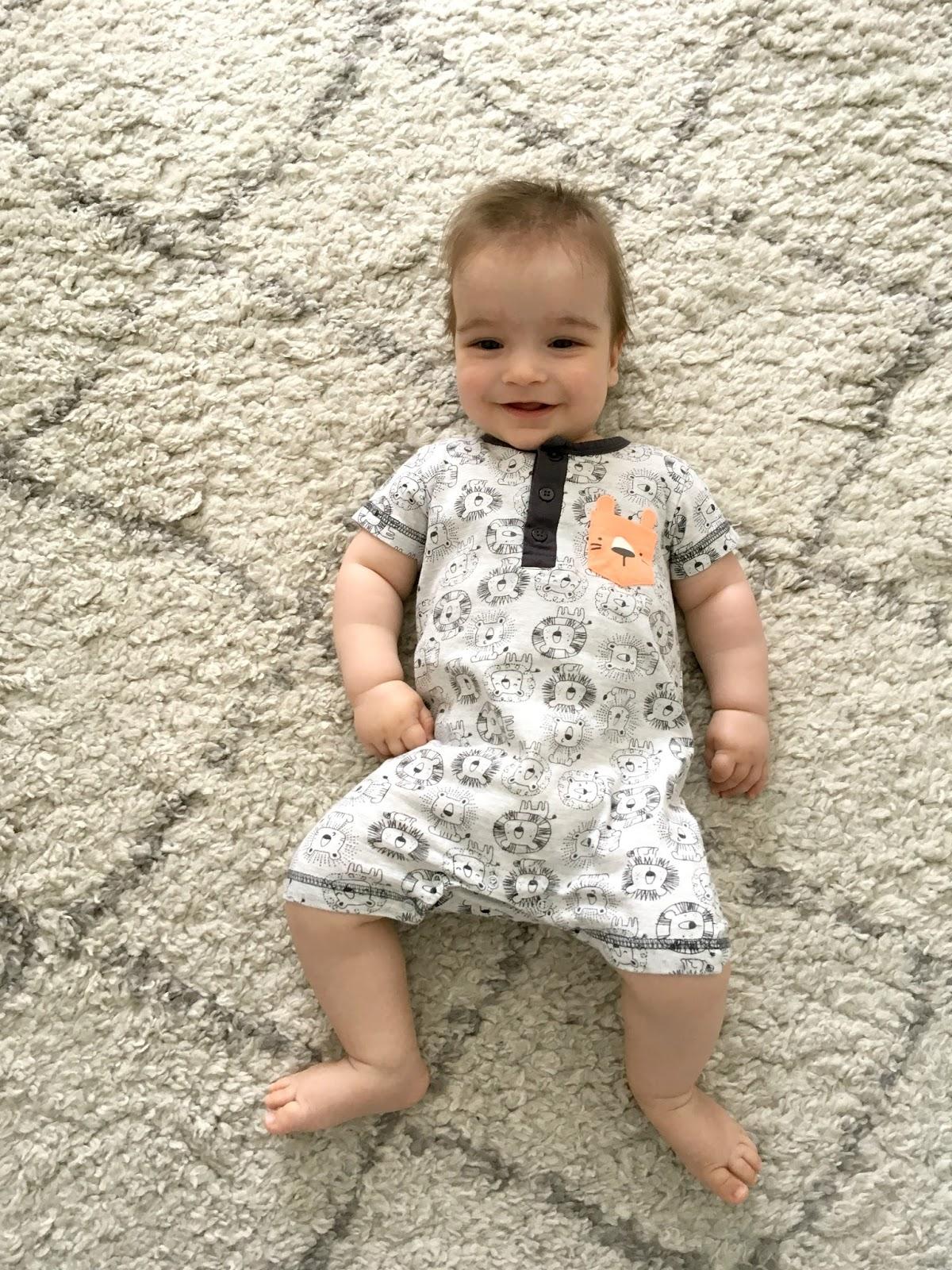 baby wearing summer romper