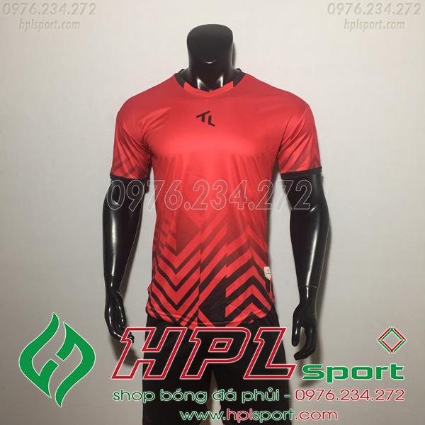 Áo bóng đá không logo TL HML Raki Màu Đỏ