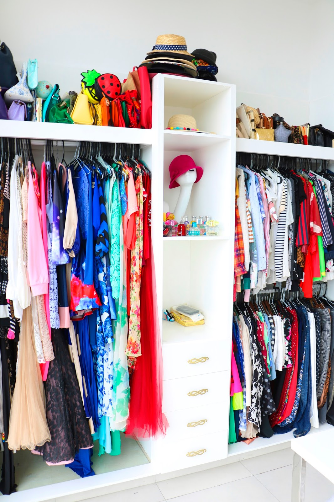 My dream closet color coded