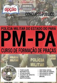 Apostila para o cargo de Soldado/Praça do concurso 2016 da PM-PA (Polícia Militar do Pará)