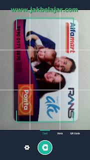 Tampilan scan Card menggunakan CamScanner