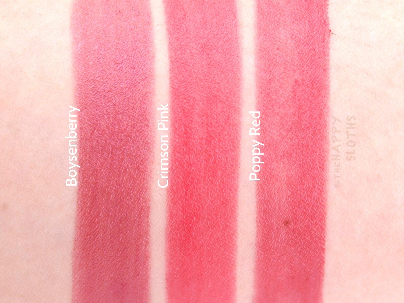Burberry Kisses Sheer Lipstick In Quot No 289 Boysenberry Quot Quot No 241 Crimson Pink Quot Amp Quot No 309 Poppy