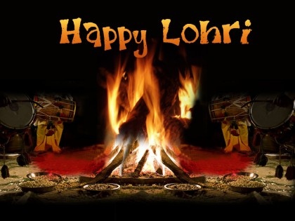 Happy Lohari Greetings Card