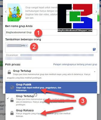 cara mengisi nama grup facebook dan memilih privasi grup