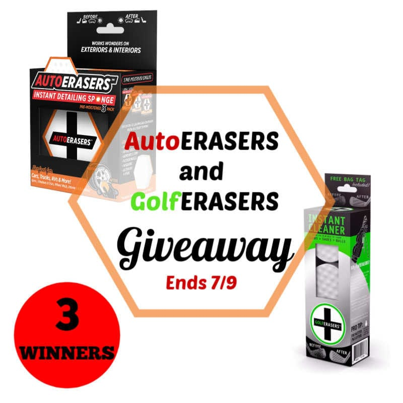 AutoErasers and GolfErasers Giveaway