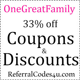 Save 33% on your purchase at OneGreatFamily with today's, new coupons, discount codes & promo codes 2018-2019