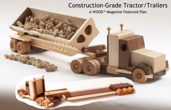 miniatur dump truk samping dari kayu