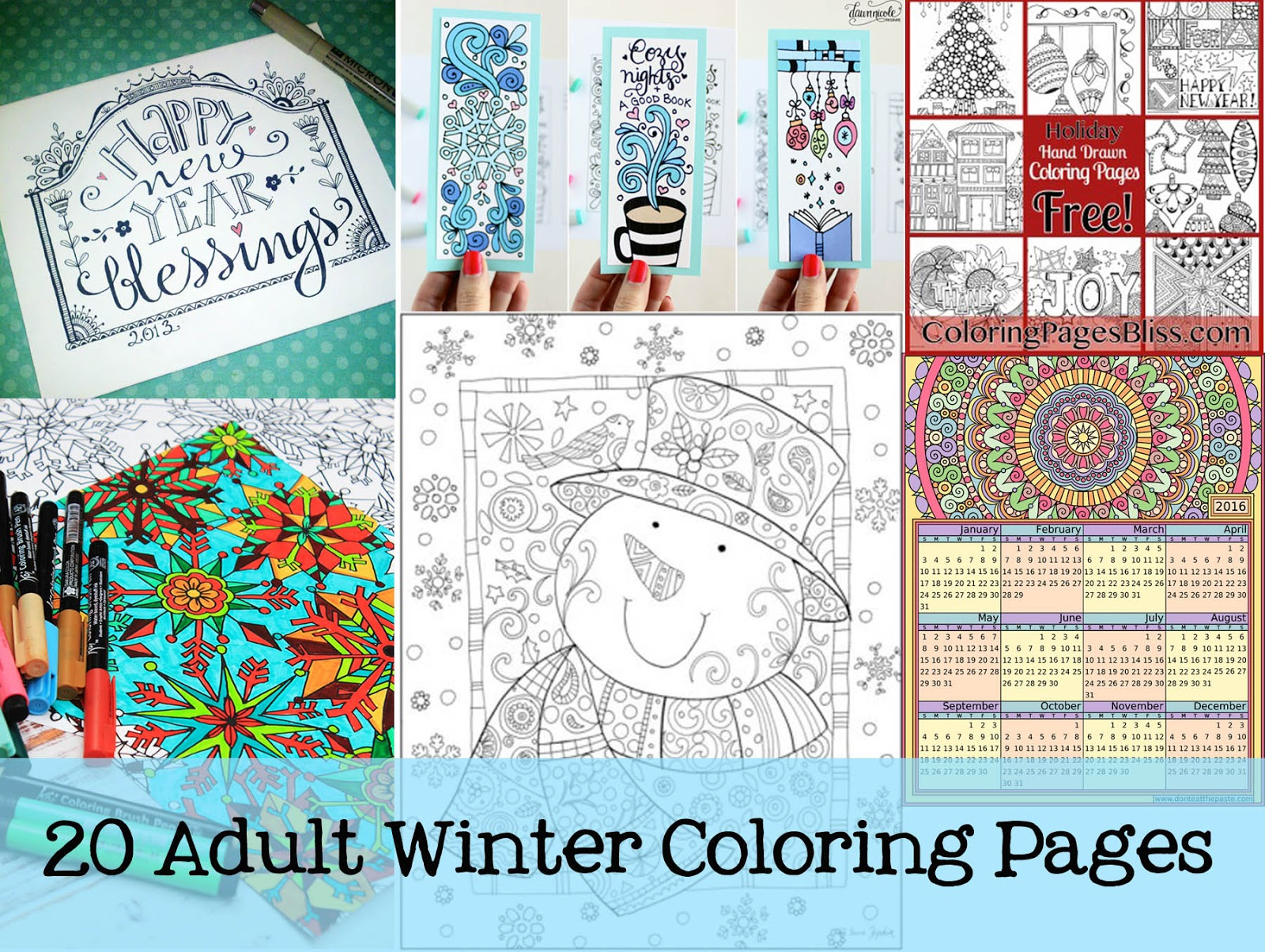 Funky Polkadot Giraffe 20 Winter Themed Adult Coloring Pages