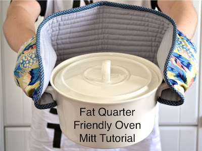 Fat Quarter Friendly Oven Mitt