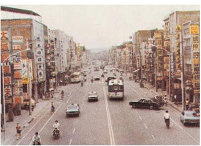 五零年代的三重市街道,已可見今日繁榮的雛型。