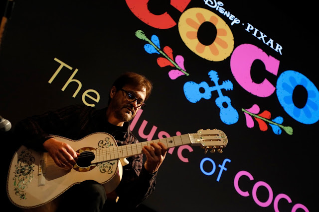 Fredrico Ramos on stage at Pixar for Coco