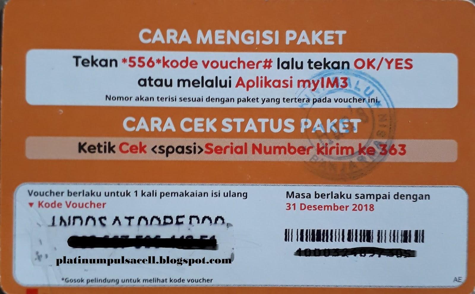 Cara Mudah Mengisi Paket Im3 Indosat Ooredoo Platinum Pulsa
