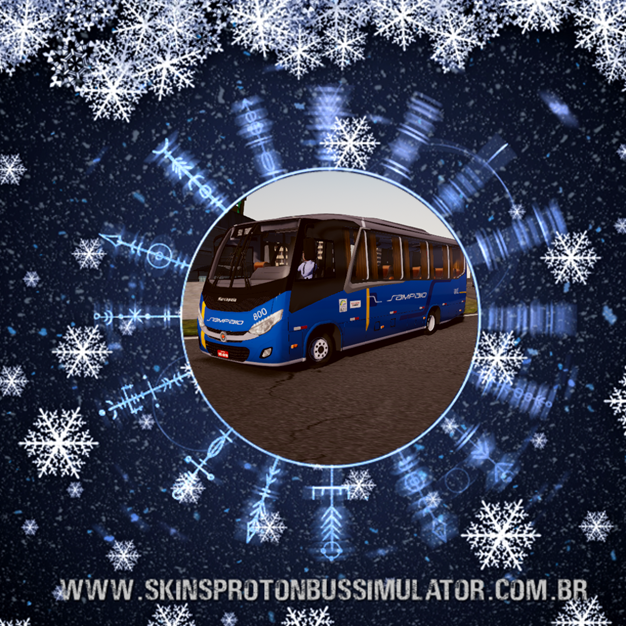 Skin Proton Bus Simulator - New Senior MB LO-916 BT5 Viação Sampaio