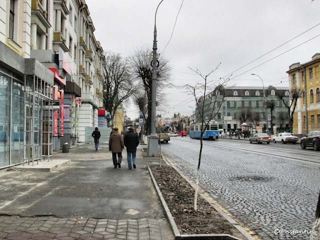 Vinnitsa - strada în zi de toamnã
