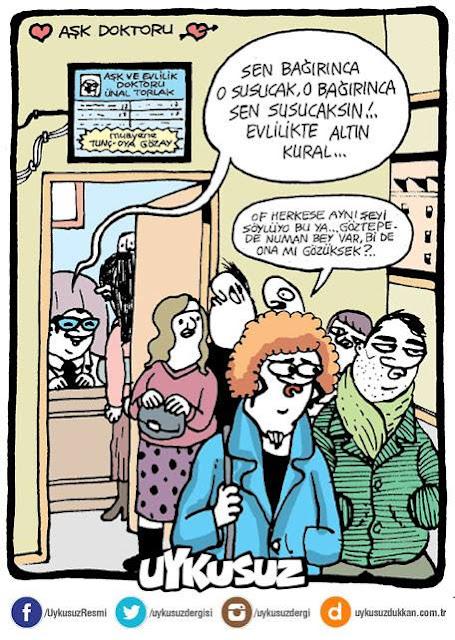 aşk doktoru karikatür