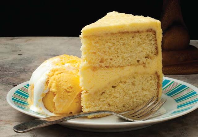 Orange Buttercream Layer Cake Recipe