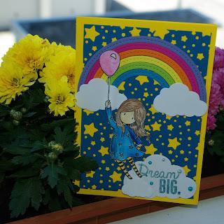 [DIY] Dream Big Flying Girl with Balloon & Rainbow  Träum groß Fliegendes Mädchen mit Luftballon und Regenbogen  Santoro Gorjuss Fly With Me