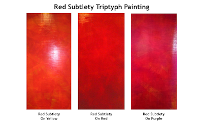 Vibrant Painting For Your Home or Office – Red Subtlety Triptych Yellow Red Purple