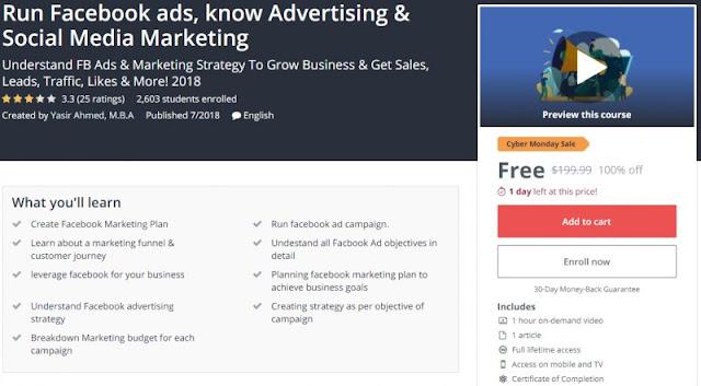 [100% Off] Run Facebook ads, know Advertising & Social Media Marketing| Worth 199,99$