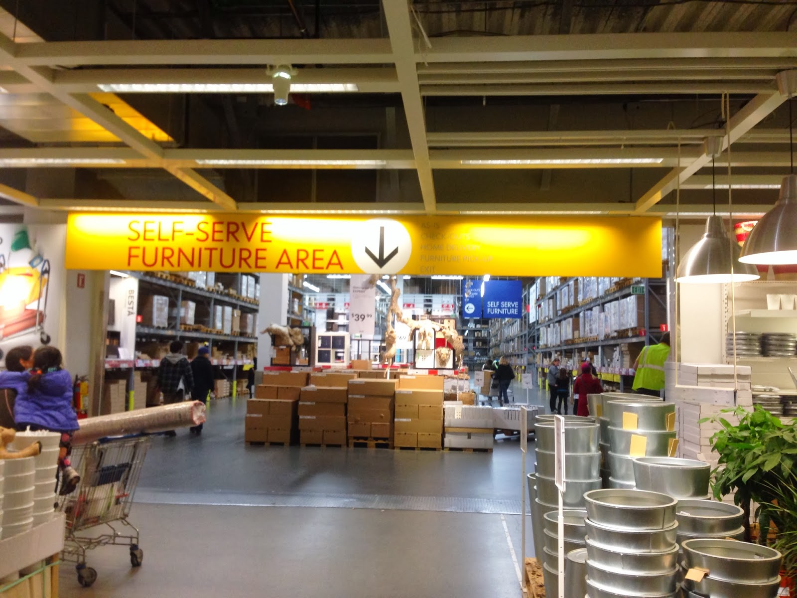 You Ll Find Yourself In The Self Serve Area Note Can Get An Ikea Employee To Gather Up Your Stuff If D Prefer Not Do It