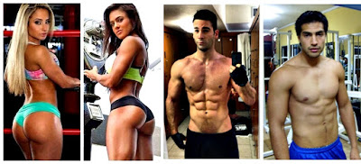 Hombres mujeres fitness