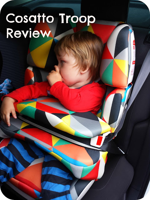 Cosatto troop car seat, group 123 car seat, car seat review, impact shield car seat
