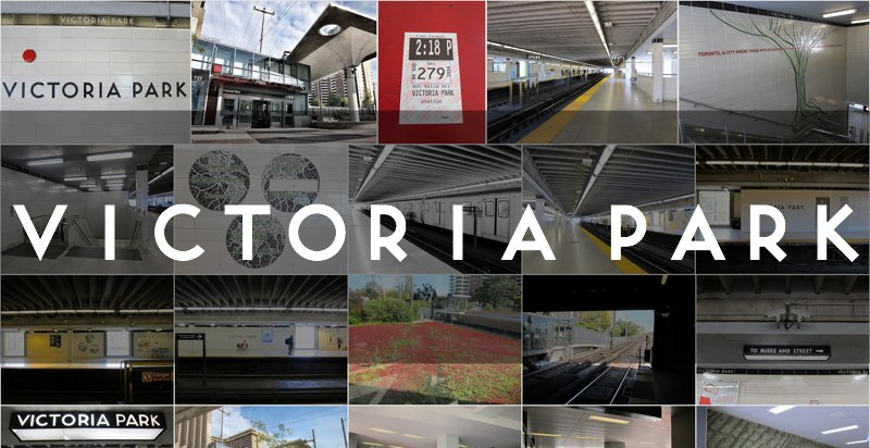 Photo Gallery for Victoria Park subway station in Toronto