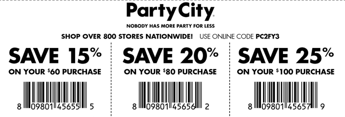 Party city coupons 2018 not expired printable