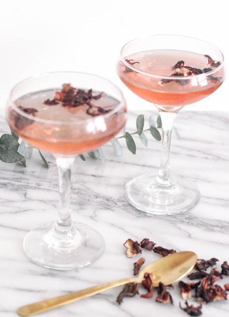 Hibiscus Ginger Sparkling Cocktail Happy Hour