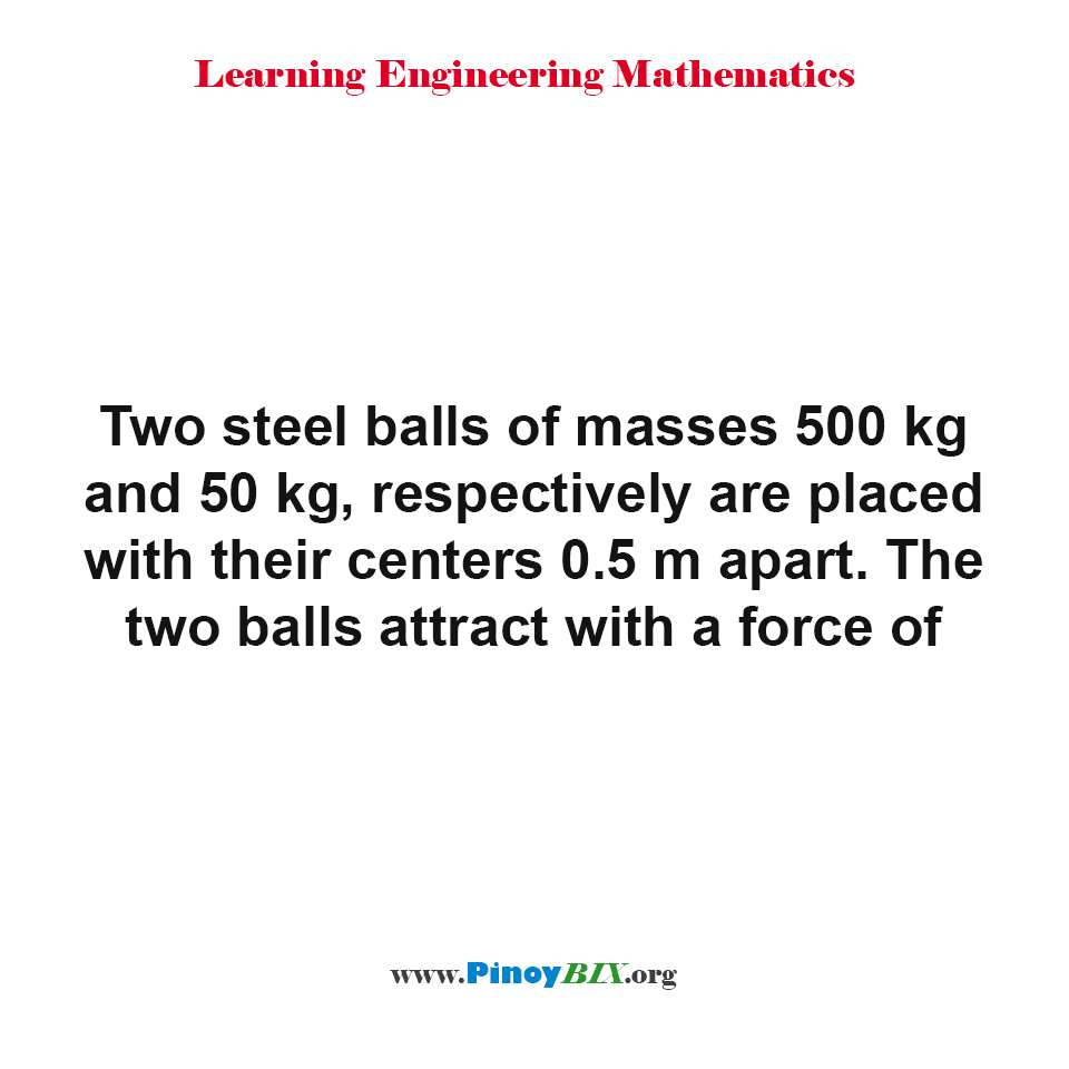 What is the force of the two balls that attract each other?