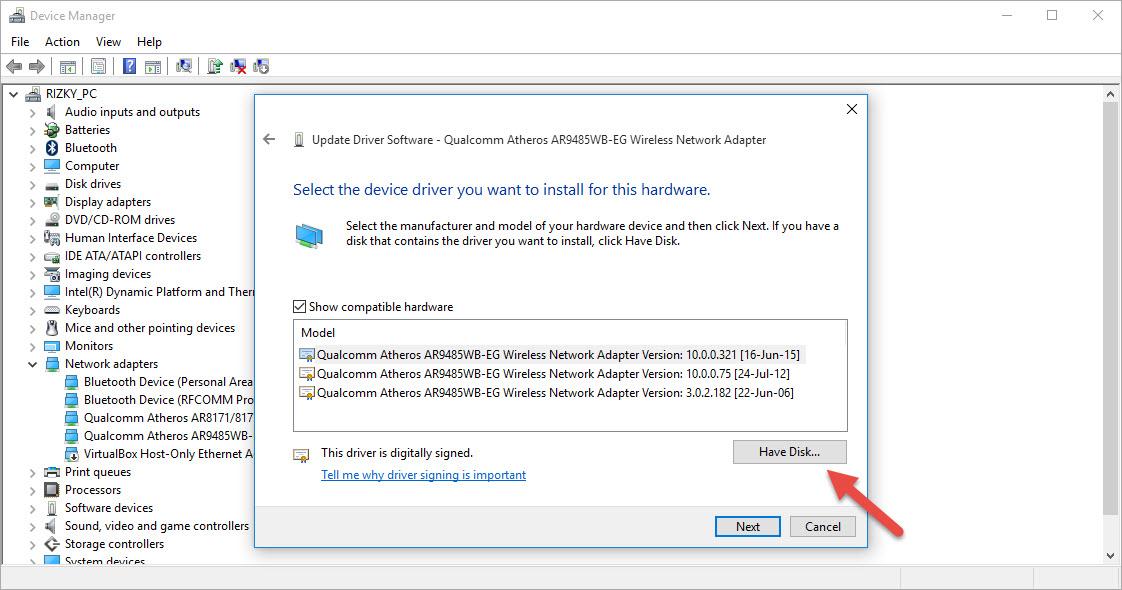 Qualcomm Atheros Ar9485 Wireless Network Adapter Driver Windows 10