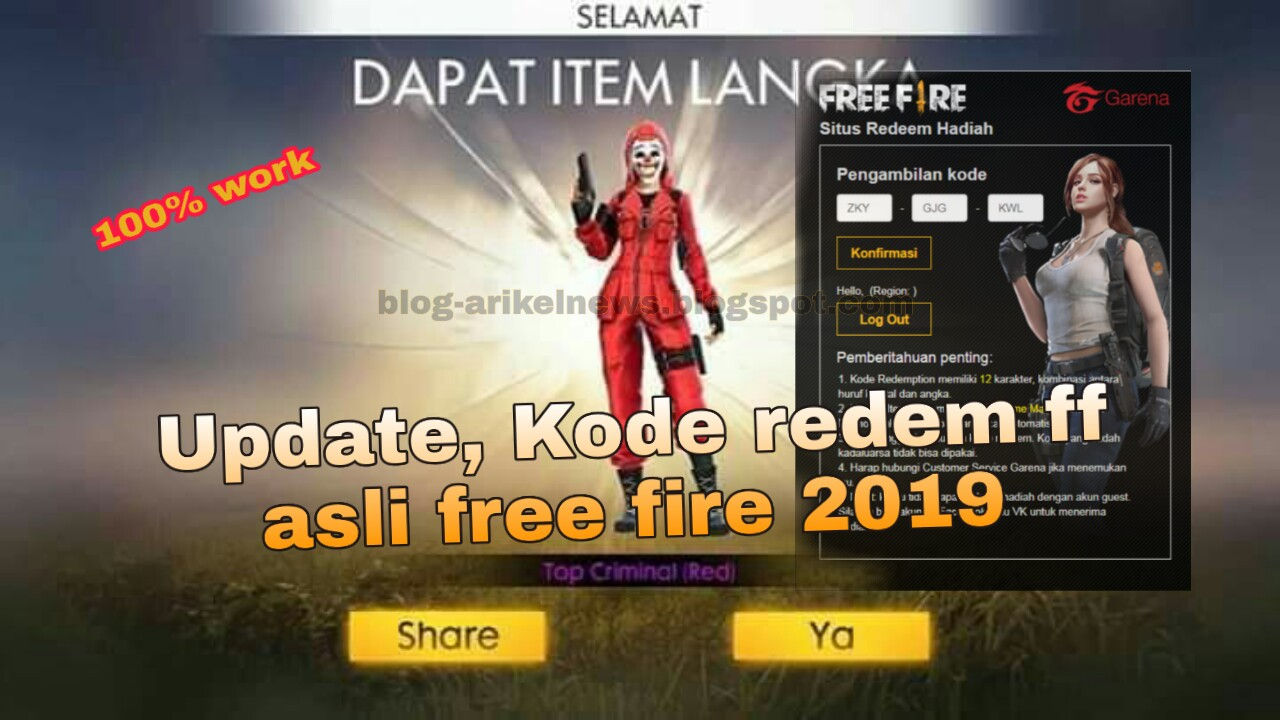 UPDATE !!,KODE REDEM FF [FREE-FIRE] || CODE REDEEM GRATIS,100% WORK