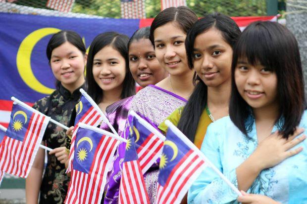 Multi-racial population of Malaysia