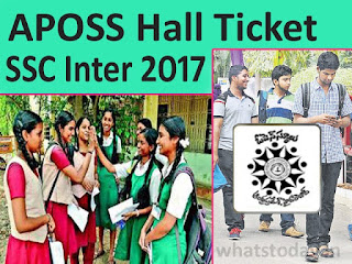 Manabadi APOSS SSC Hall Ticket 2017, APOSS Inter Hall Ticket 2017 Download, APOSS SSC Hall Tickets April 2017