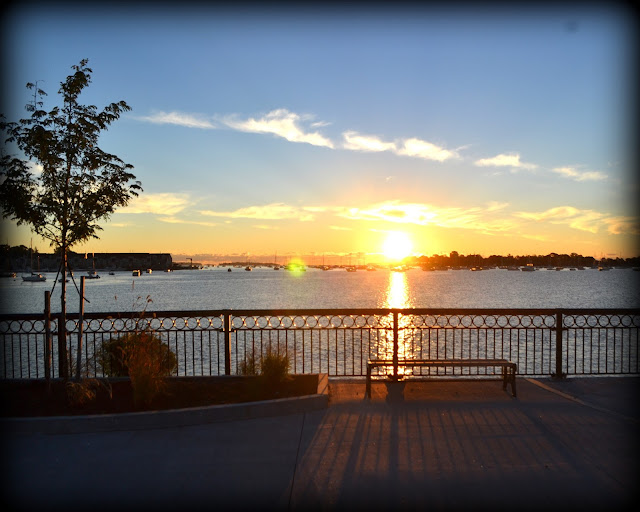 Sunrise, Redmond Park, Salem, Massachusetts, shadow