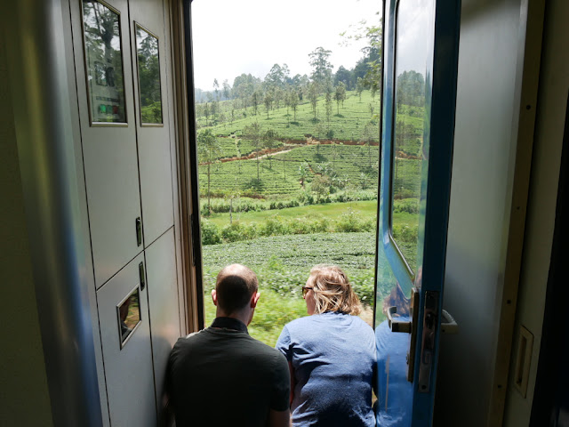 Views over the tea plantations - Kandy to Nanu Oya train - Sri Lanka