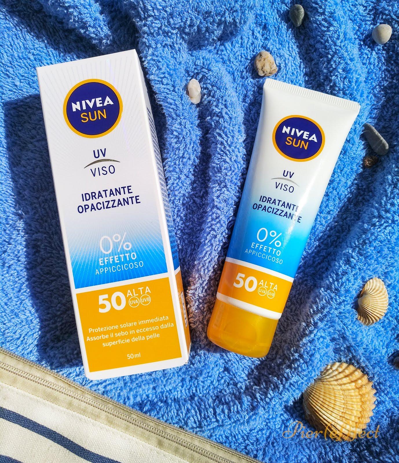 Crema Viso Idratante Opacizzante SPF 50 di NIVEA SUN