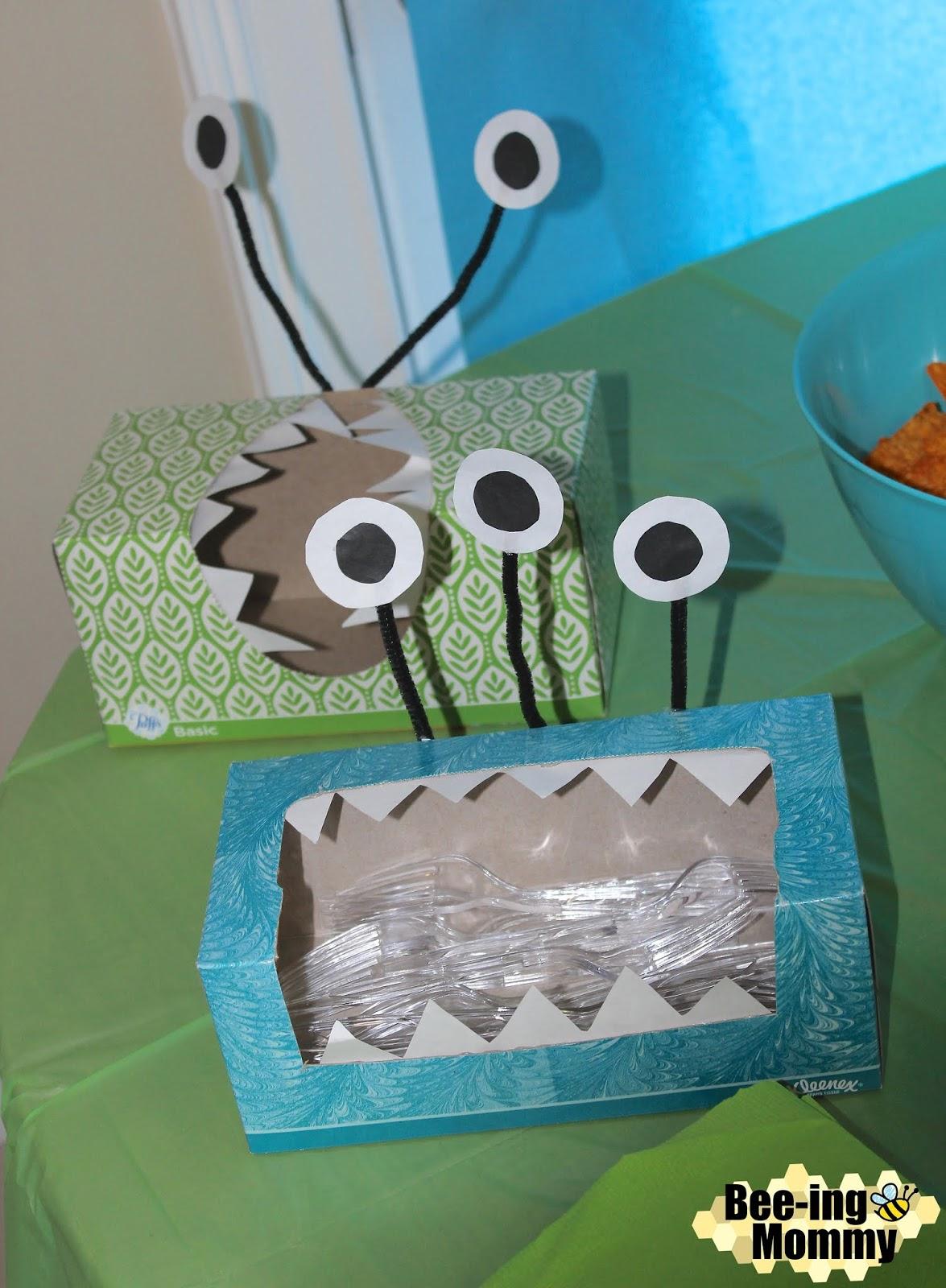 Monster Tissue Boxes Decor Party Decoration Utensil Holder Easy