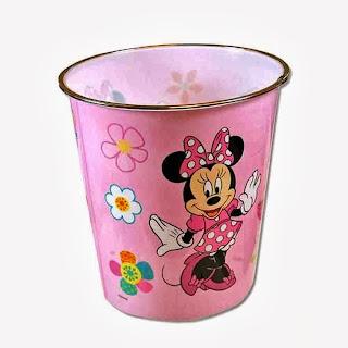 Disney Minnie Mouse Plastic Trash Can