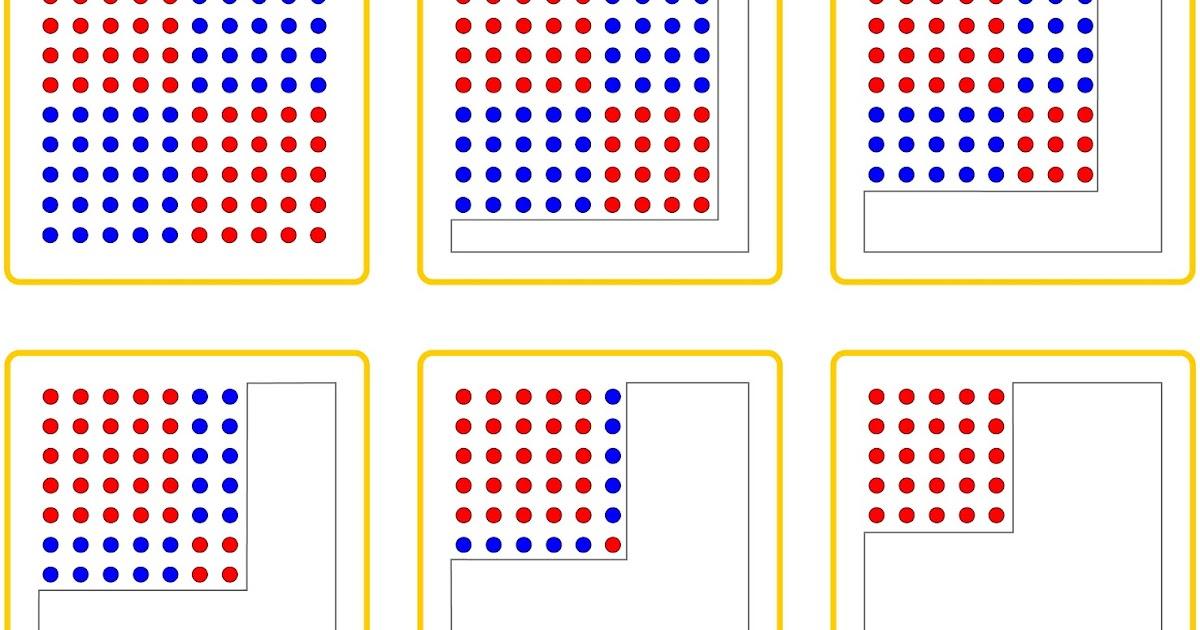 Lernstu00fcbchen: die Quadratzahlen am Hunderterfeld