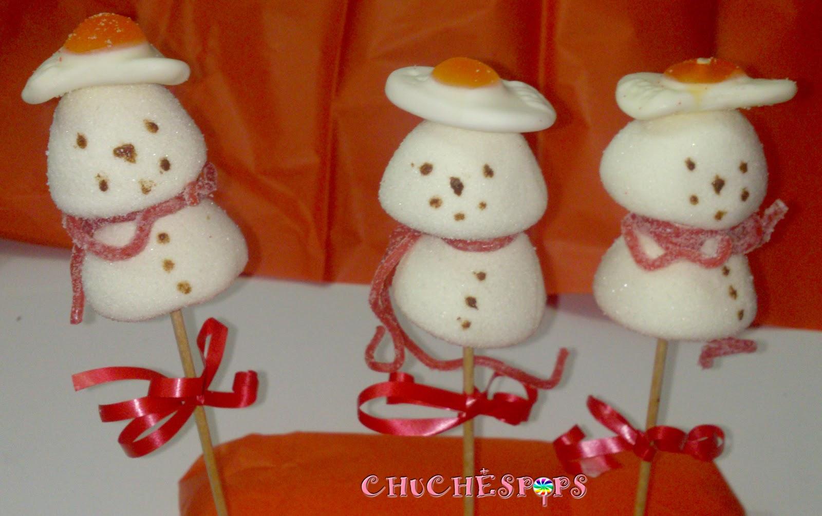 Brochetas Muñeco de Nieve Frozen