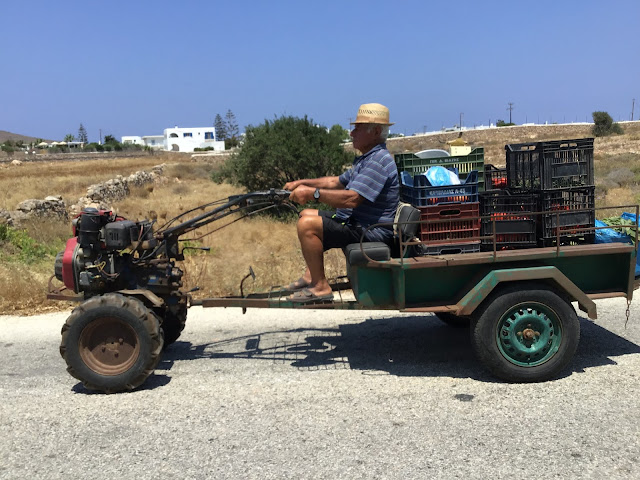 Home-made agricultural vehicle